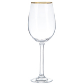 Wine Glass with Gold Rim